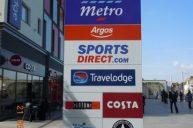 Retail park signage