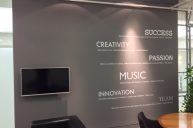 Sony wall graphic