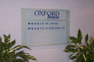 Oxford House directory - Mosaic glass