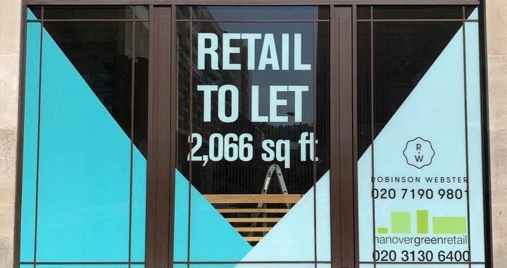 window vinyl - retail to let