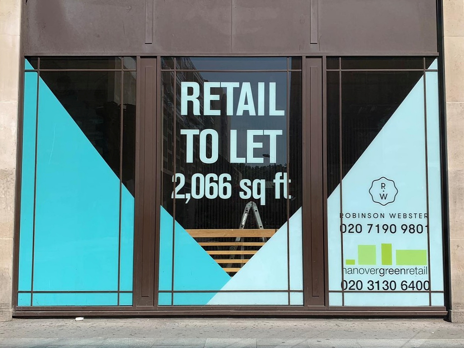 "window vinyl ""to let"""