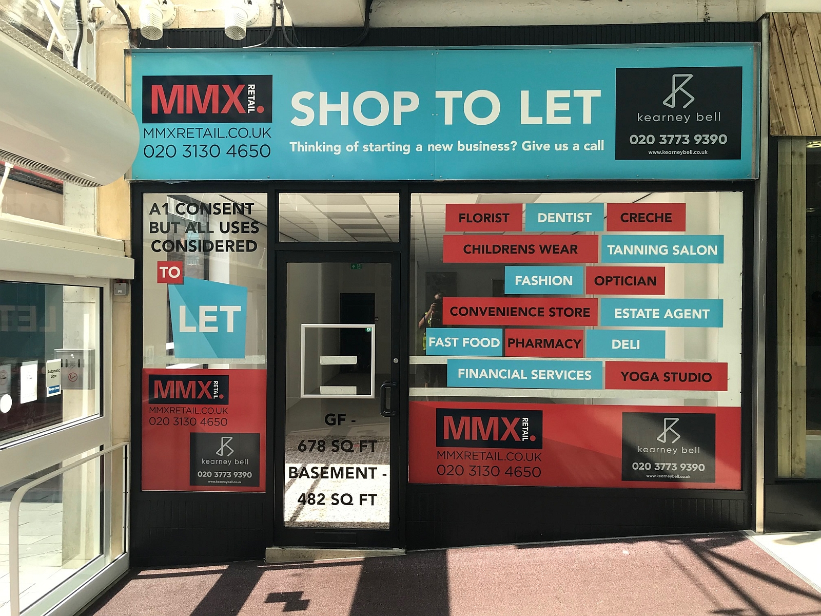 Shop to let - window vinyl